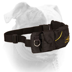 'Swift Reward' Nylon American Bulldog training pouch for treats, toys and kibble
