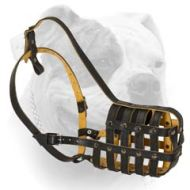 Professional Smart Leather Muzzle For American Bulldog