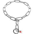 Fur saver American Bulldog collar of stainless steel 1/6 inch (4.0 mm) link diameter