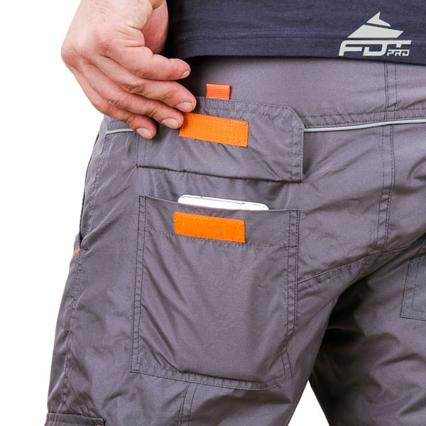 Convenient Design FDT Pro Pants with Strong Side Pockets for Dog Trainers