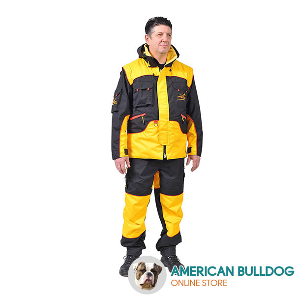 Professional Dog Training Suit of Weatherproof Membrane Material