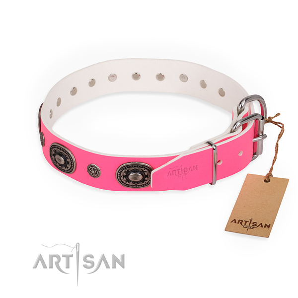 Comfy wearing easy adjustable dog collar with durable buckle