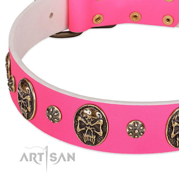 Stylish design dog collar handcrafted for your stylish four-legged friend