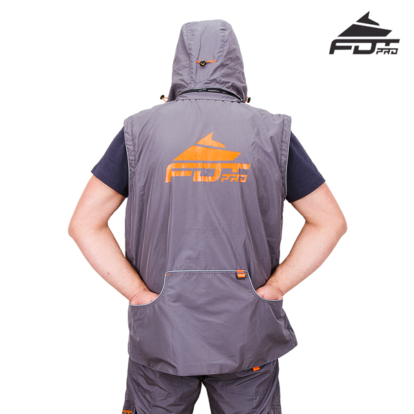 FDT Professional Dog Training Jacket with Back Pockets for your Convenience