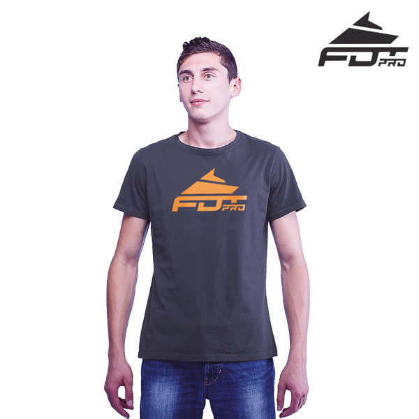 Top Notch Cotton FDT Pro Men T-shirt Dark Grey Color