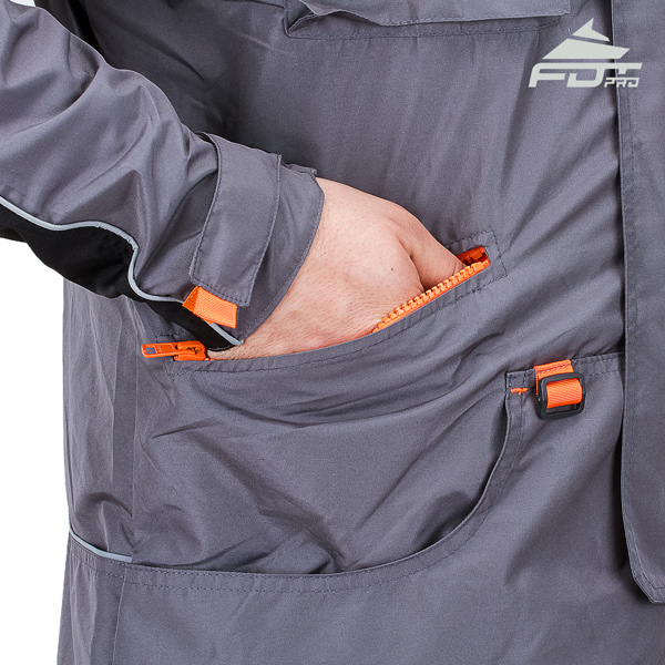 FDT Pro Dog Tracking Jacket with Back Pockets for All Weather Use
