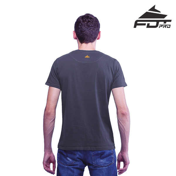 High Quality Cotton Men T-shirt of Dark Grey