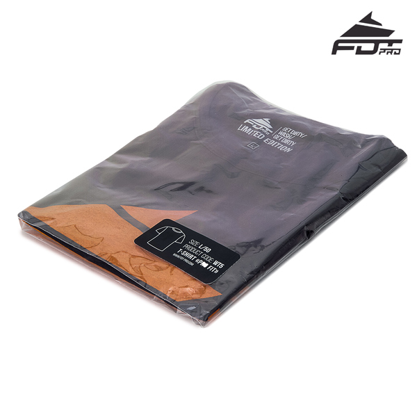 Packed FDT Professional Design T-shirt of Dark Grey