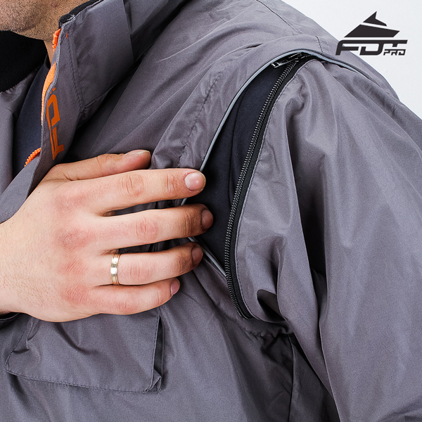 High Quality Zipper on Sleeve for Professional Design Dog Tracking Jacket