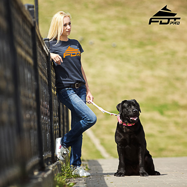 Women T-shirt of Top Quality Cotton for Dog Trainers