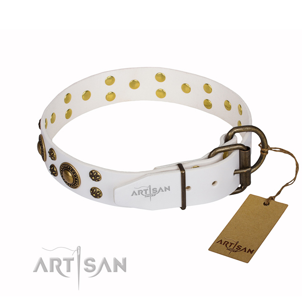 Remarkable full grain leather dog collar for handy use