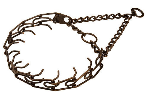 Corrosion resistant American Bulldog pinch collar with two O-rings