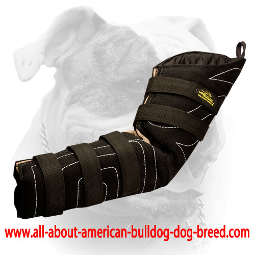 Ambidextrous hidden bite sleeve for American Bulldog