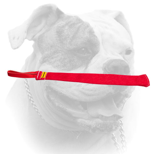 High quality French Linen American Bulldog bite rag