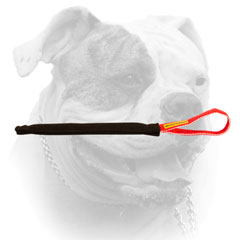 Pocket toy of French Linen with a comfy handle for American Bulldog
