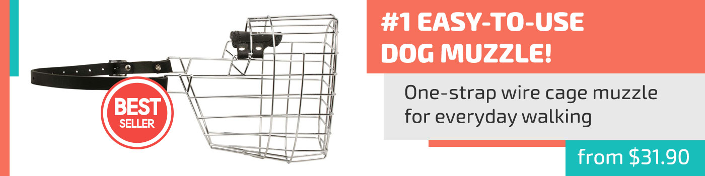 Extremely Easy Wearing Wire Basket Muzzle